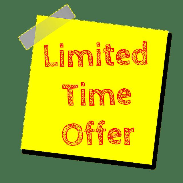 Tiempo limite en las estrategias de promoción de ventas